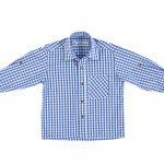 Blau-weiß kariertes Trachtenhemd
